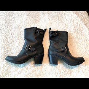 Skechers Heeled Ankle Boots Black Size 6 Brand New